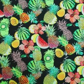 Tissu enduit coton Pynia - multicolore x 10cm