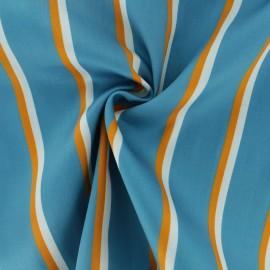 Tissu popeline satinée La Maison Victor Lisa - bleu x 10cm