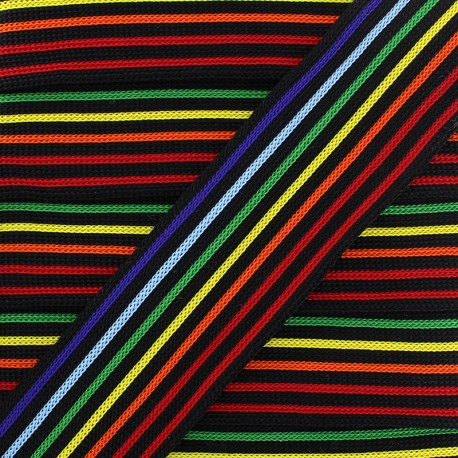 40 mm Knitted Ribbon - Multi Chromatic x 1m