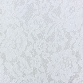 Scalloped Lace Fabric - white Antoinette x 10cm