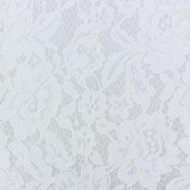Tissu Dentelle Annabelle blanche x 10cm