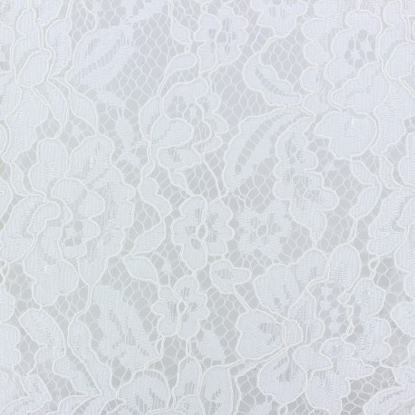 Annabelle Lace Fabric - white x 10cm
