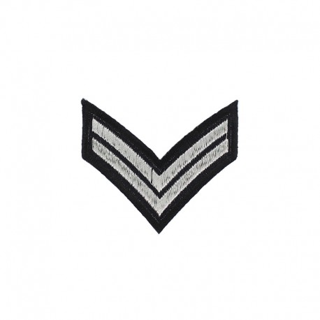 Corporal Grade Iron-On Patch - Black