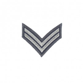 Corporal Grade Iron-On Patch - Grey