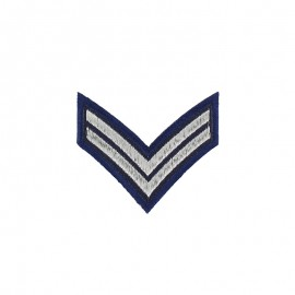 Corporal Grade Iron-On Patch - Navy Blue