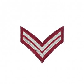 Corporal Grade Iron-On Patch - Burgundy