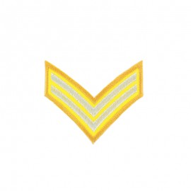 Corporal Grade Iron-On Patch - Yellow