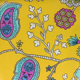 Oilcloth fabric - yellow Persepolis x 10cm