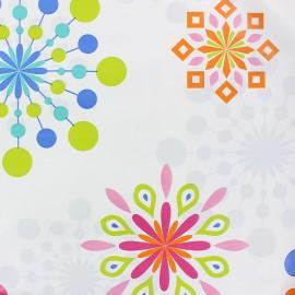 Tissu toile cirée Flo-cool - blanc x 10cm