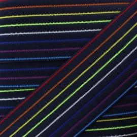 Ruban Élastique Prisme 50 mm - Bleu x 50cm