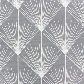 Tissu polycoton enduit mat - Victor - gris x 10cm