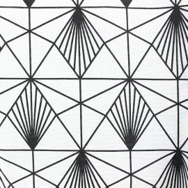 Tissu polycoton enduit mat Spark - blanc x 10cm