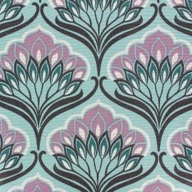 Tissu polycoton enduit mat Shiba - bleu x 10cm