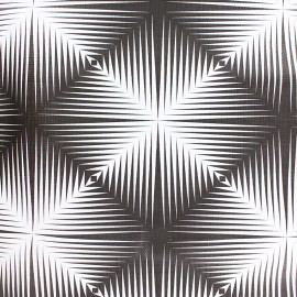 Tissu toile cirée Matex carré optique - blanc/noir x 10cm
