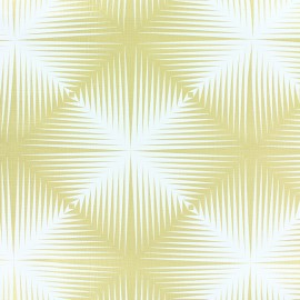 Tissu toile cirée Matex carré optique - blanc/doré x 10cm