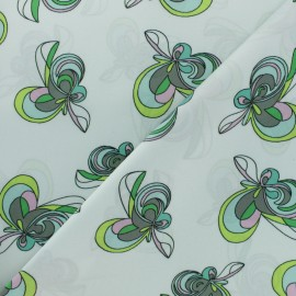 Polyester satin fabric - white Boney x 50cm
