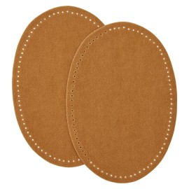 Suede Iron On Knee and Elbow Pads - Camel