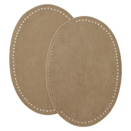 Suede Iron On Knee and Elbow Pads - Taupe