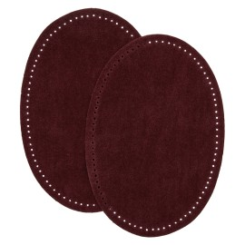 Suede Iron On Knee and Elbow Pads - Garnet
