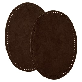 Suede Iron On Knee and Elbow Pads - Brown