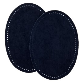 Suede Iron On Knee and Elbow Pads - Midnight Blue