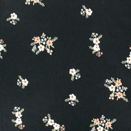 Elastane Crepe fabric - Black Clara x 10cm