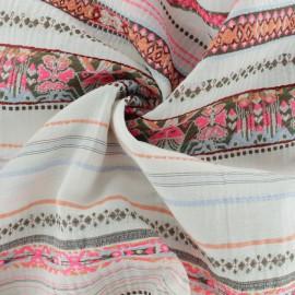 Tissu voile brodé La Maison Victor Mérida - écru x 50 cm