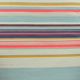 Tissu toile de coton Yucatan - multi x 30 cm