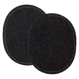 Jeans Iron On Knee and Elbow Pads (x2) - Black