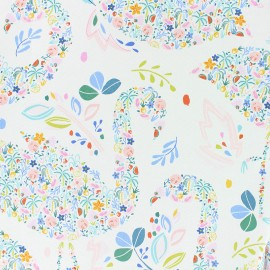 Tissu Popeline Dear Stella - Flockstar - blanc x 10cm