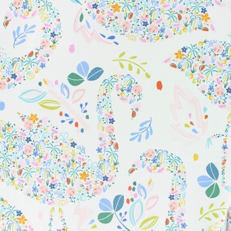 Dear Stella Poplin fabric - white Flockstar x 10cm