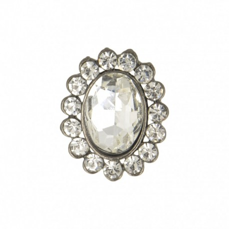 23 mm Jewel Metal Button - Diamond Precioso