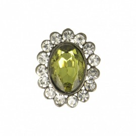 23 mm Jewel Metal Button - Peridot Precioso