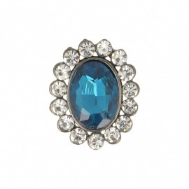 23 mm Jewel Metal Button - Topaz Precioso
