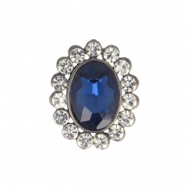 23 mm Jewel Metal Button - Sapphire Precioso