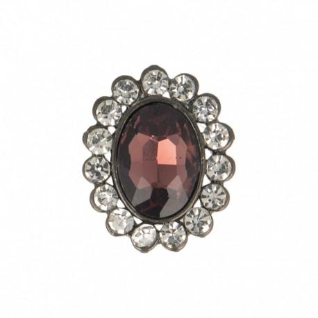 23 mm Jewel Metal Button - Spinel Precioso