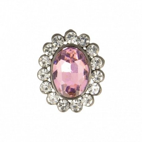 23 mm Jewel Metal Button - Quartz Precioso