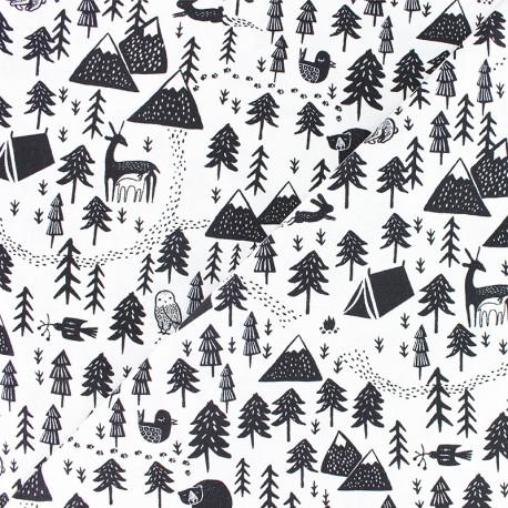 Dear Stella Poplin fabric - Harvest moon - Black hibernation x 10cm