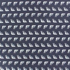 Tissu Popeline Dear Stella Snail Tail - bleu x 10cm