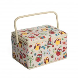 Large Size Sewing Box - Owl
