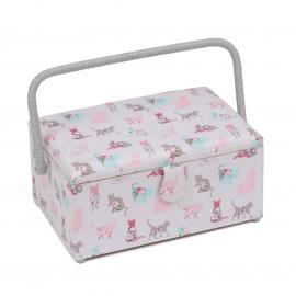 Medium Size Sewing Box - Cats