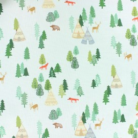 Dear Stella Poplin fabric - Pearly grey Campsite x 10cm