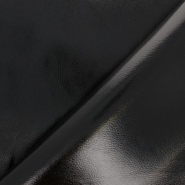 Leather Imitation - Black Metallic x 10cm