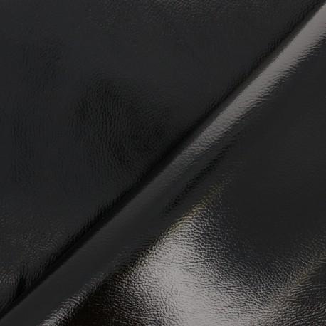 Simili cuir Metallic - noir x 10cm