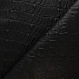 Simili cuir Caiman - Chocolat x 10cm