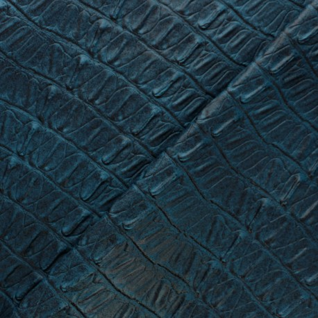Leather Imitation - Green blue Caiman x 10cm