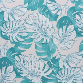 Oilcloth fabric - light grey Hawaï x 10cm