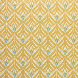 Oilcloth fabric - Peacock green Pinata x 10cm