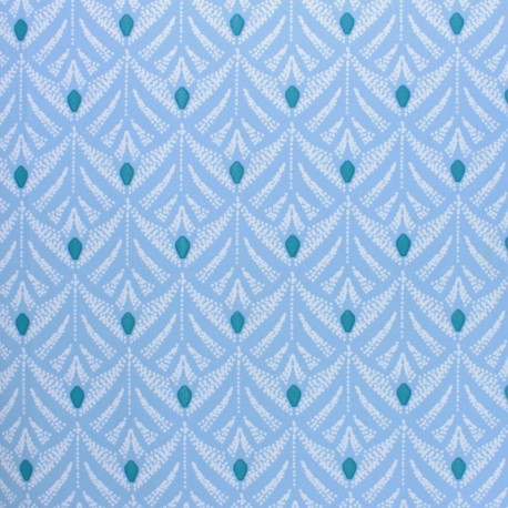 Oilcloth fabric - light blue Pinata x 10cm