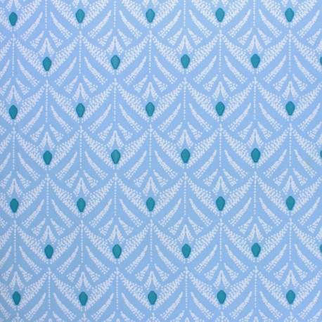Tissu toile cirée Pinata - bleu x 10cm